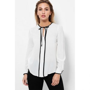 Full Sleeve Stylish Top – NOW1172 | White