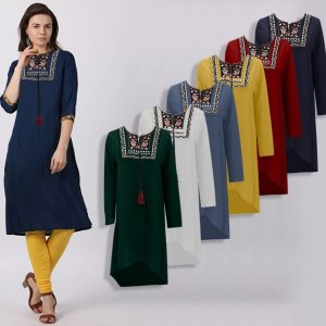 Long Sleeves Kurti Top For Women - JT1745